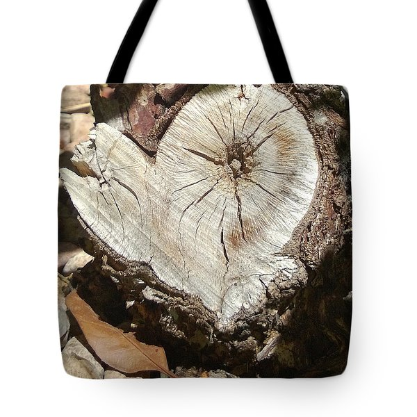 Wood Heart Tote Bag