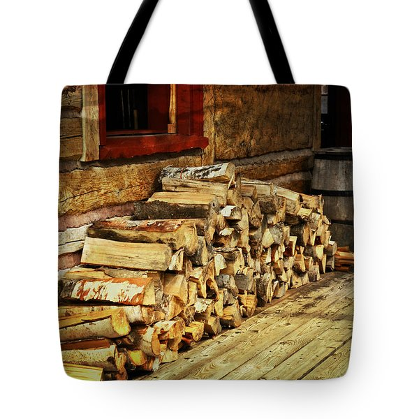 Wood Tote Bag by Marty Koch