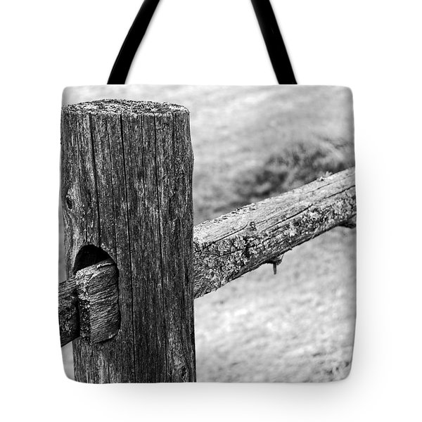 Wood Railing Tote Bag