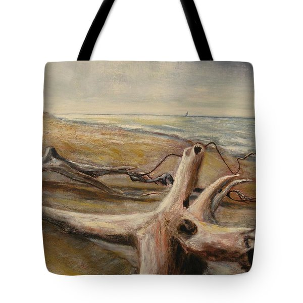 Wood Sand Water And Sky Tote Bag