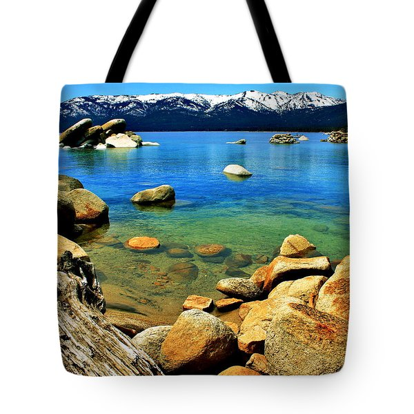 Wood Stone Water Tote Bag