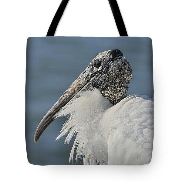 Wood Stork Portrait Tote Bag