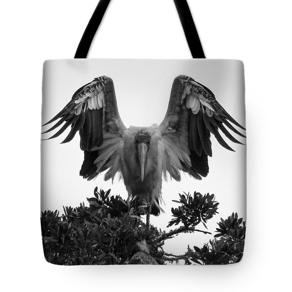 Wood Stork Spread Tote Bag