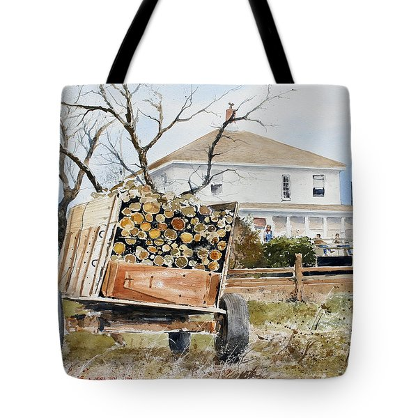 Wood Wagon Tote Bag