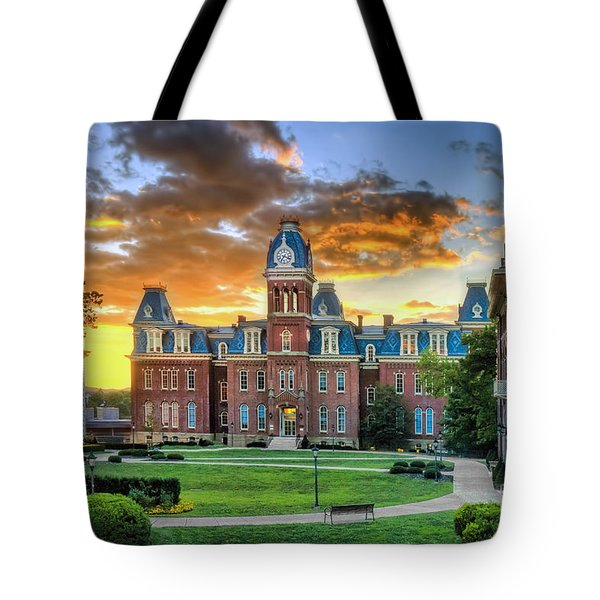 Woodburn Hall Evening Sunset Tote Bag
