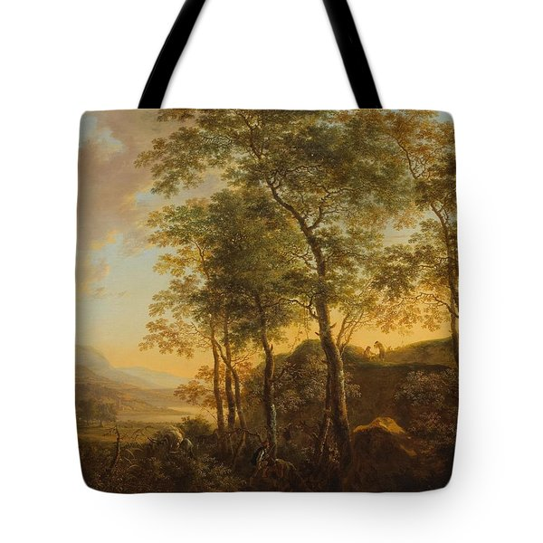Wooded Hillside With A Vista Tote Bag by Jan Both