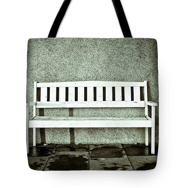 Wooden Bench Tote Bag by Tom Gowanlock