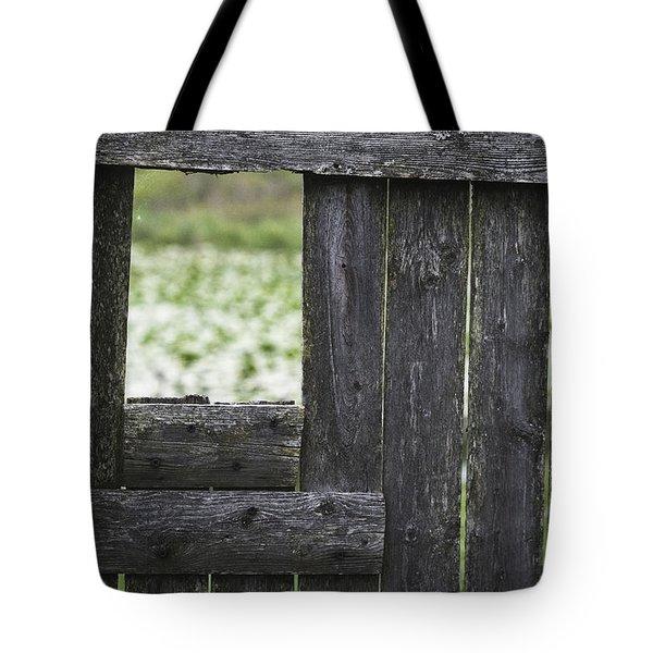 Wooden Blind Tote Bag