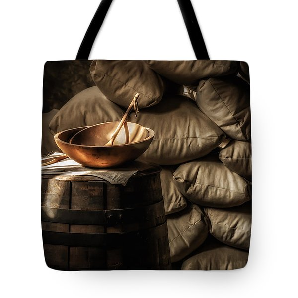Wooden Bowl Tote Bag by James Barber