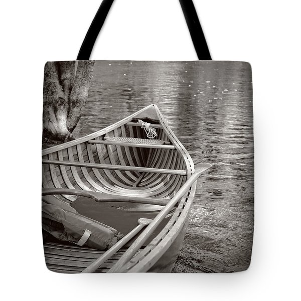 Wooden Canoe Tote Bag