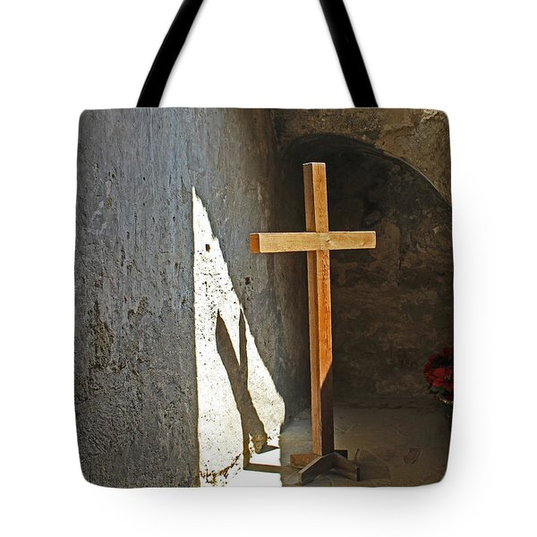 Wooden Cross Tote Bag