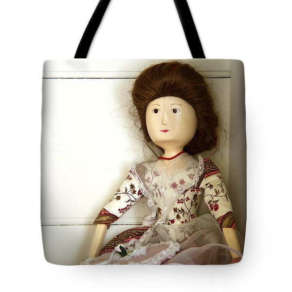 Wooden Doll Tote Bag by Margie Hurwich