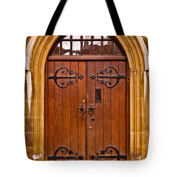 Wooden Door At Tower Hill Tote Bag