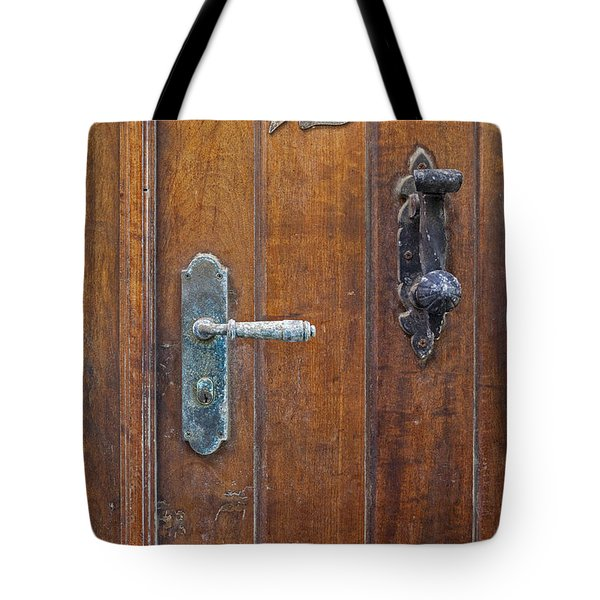 Tote Bag featuring the photograph Wooden Door In Old San Juan by Bryan Mullennix