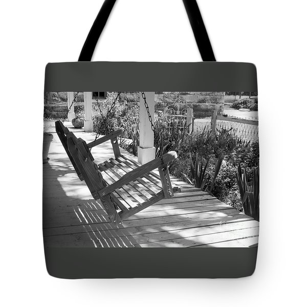 Wooden Front Porch Swing Tote Bag