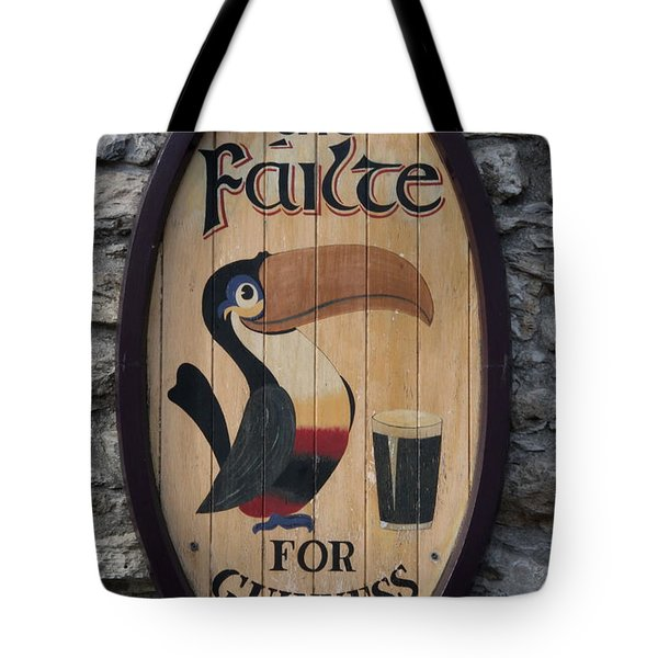 Wooden Guinness Sign Tote Bag by Christiane Schulze Art And Photography