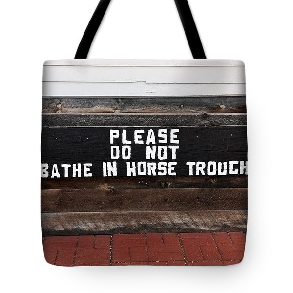 Tote Bag featuring the photograph Wooden Horse Trough by Sue Smith