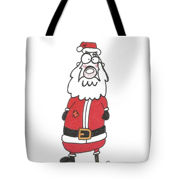 Wooden Leg Santa Tote Bag