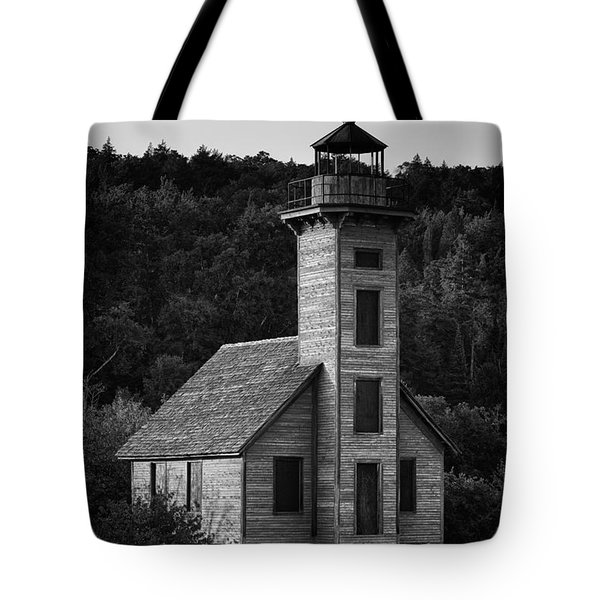 Wooden Lighthouse Tote Bag