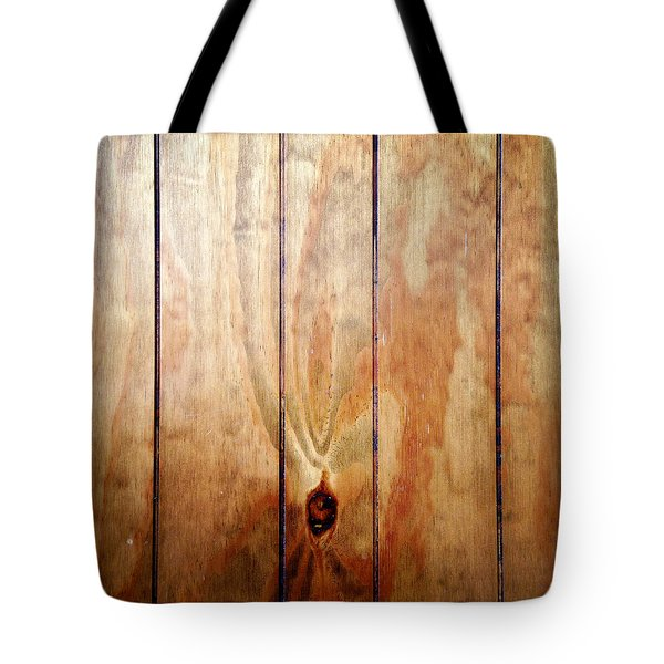 Wooden Panel Tote Bag by Les Cunliffe