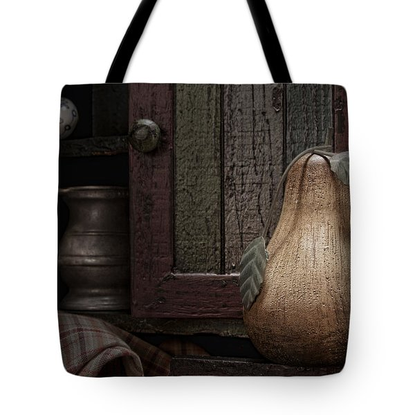 Wooden Pear Still Life Tote Bag by Tom Mc Nemar