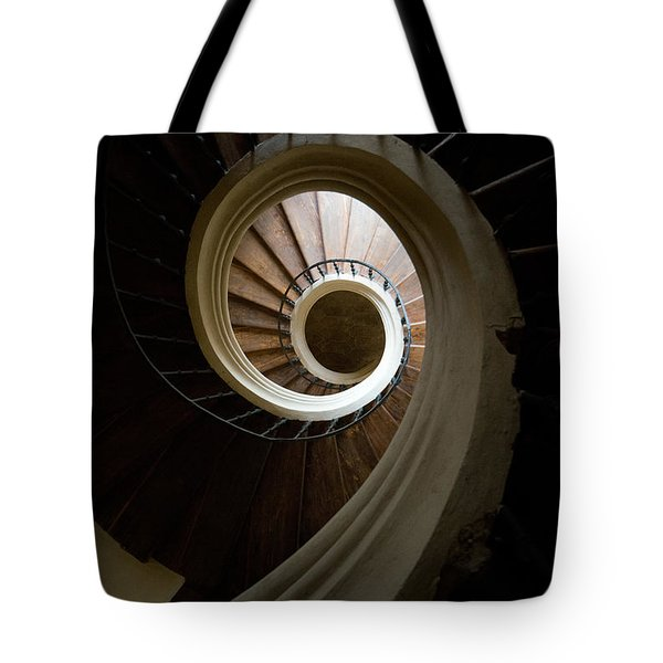 Tote Bag featuring the photograph Wooden Spiral by Jaroslaw Blaminsky