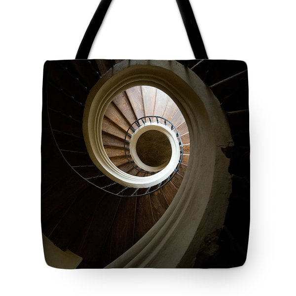 Wooden Spiral Tote Bag