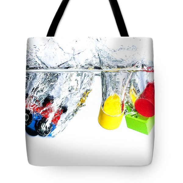 Wooden Toys In Water Tote Bag