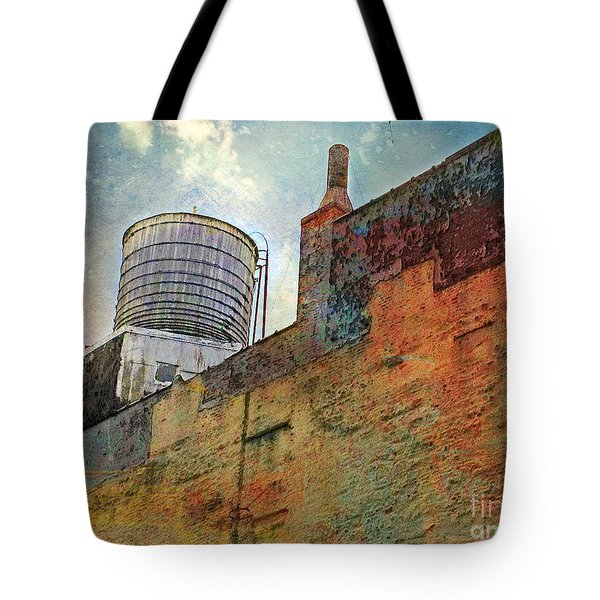 Wooden Water Tower New York City Roof Top Tote Bag