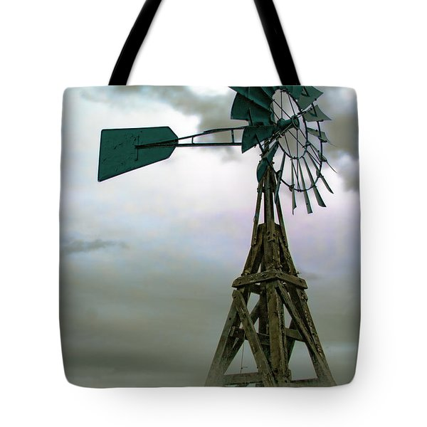 Wooden Windmill Tote Bag