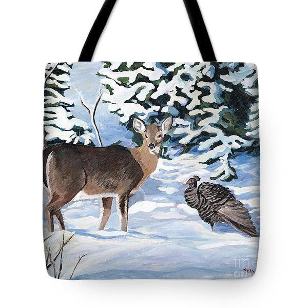 Woodland Creatures Meet Tote Bag