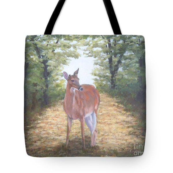 Woodland Encounter Tote Bag