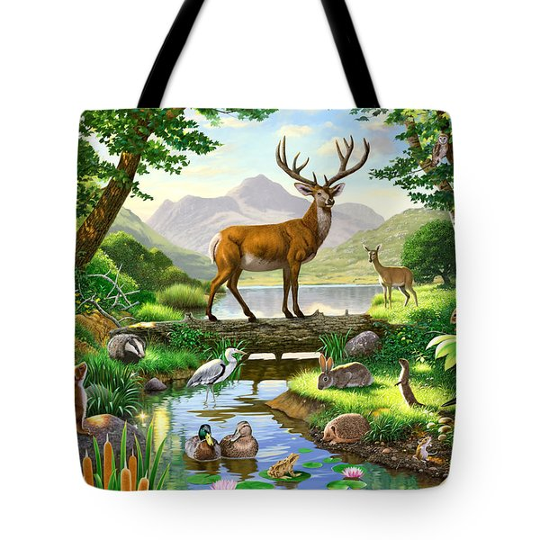 Woodland Harmony Tote Bag by Chris Heitt