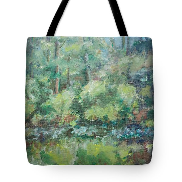 Woodland Pond Tote Bag by Sarah Parks