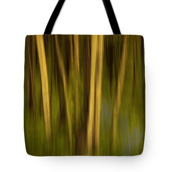 Woodland Tapestry Tote Bag by Sandi Mikuse