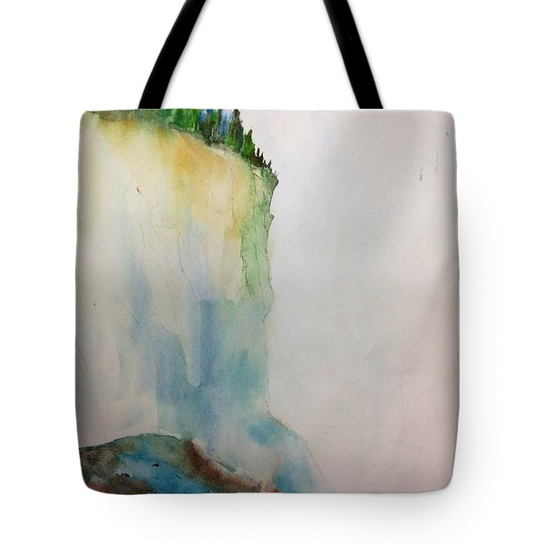 Woodland Trees On A Cliff Edge Tote Bag