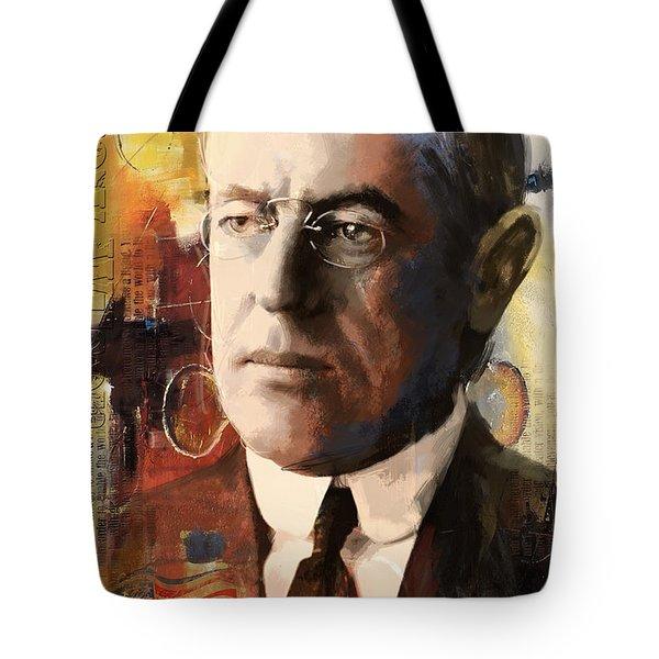 Woodrow Wilson Tote Bag by Corporate Art Task Force