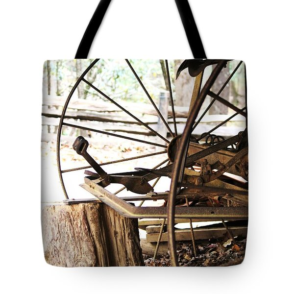 Tote Bag featuring the photograph Woody And Wheely by Faith Williams