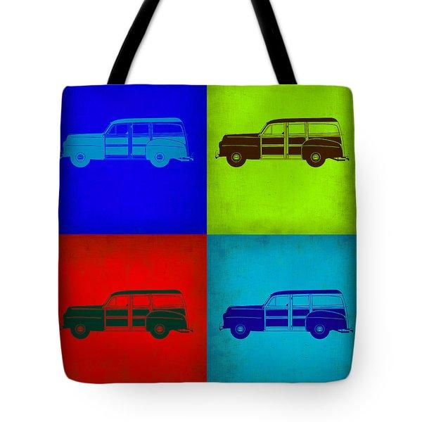 Woody Wagon Pop Art 1 Tote Bag by Naxart Studio