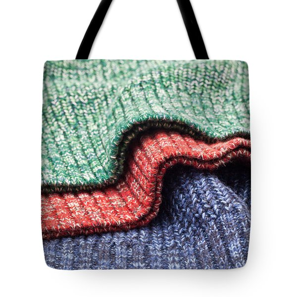 Wool Colors Tote Bag by Tom Gowanlock