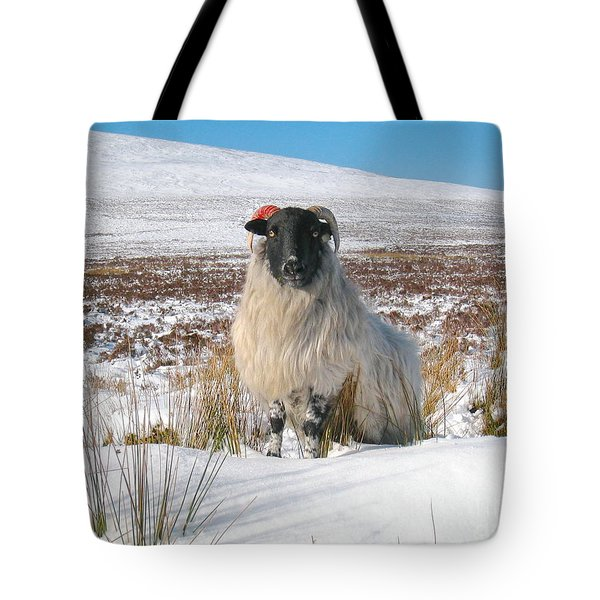 Woolly Red Tote Bag