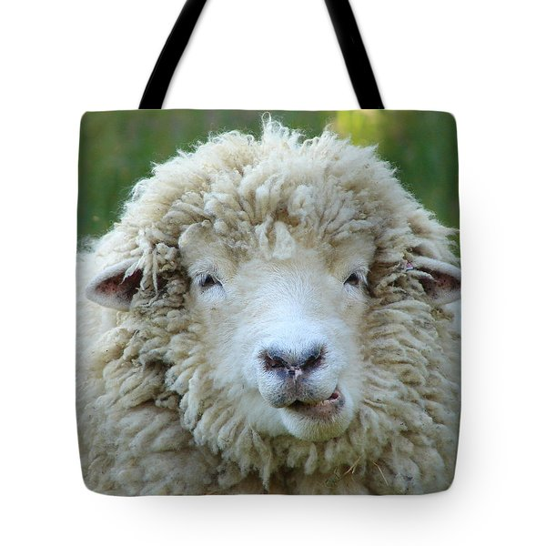 Tote Bag featuring the photograph Wooly Sheep by Ramona Johnston