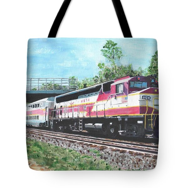 Worcester Bound T Train Tote Bag