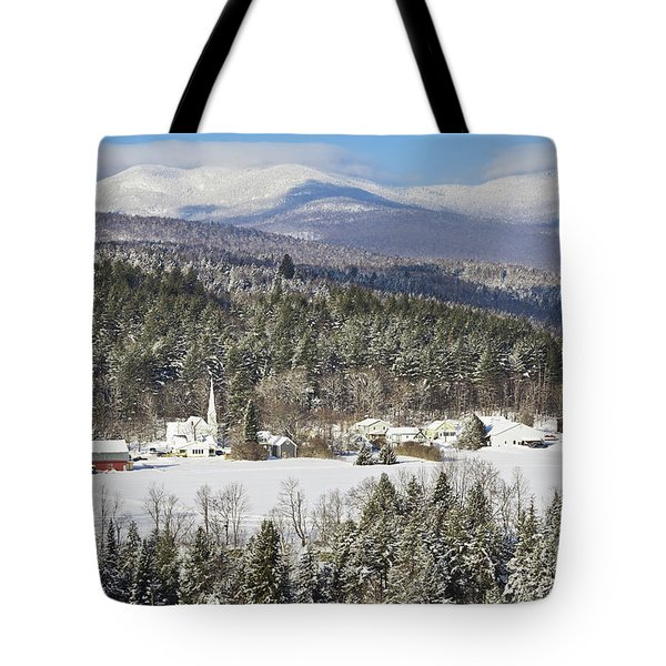 Worcester Vermont Winter Tote Bag by Alan L Graham