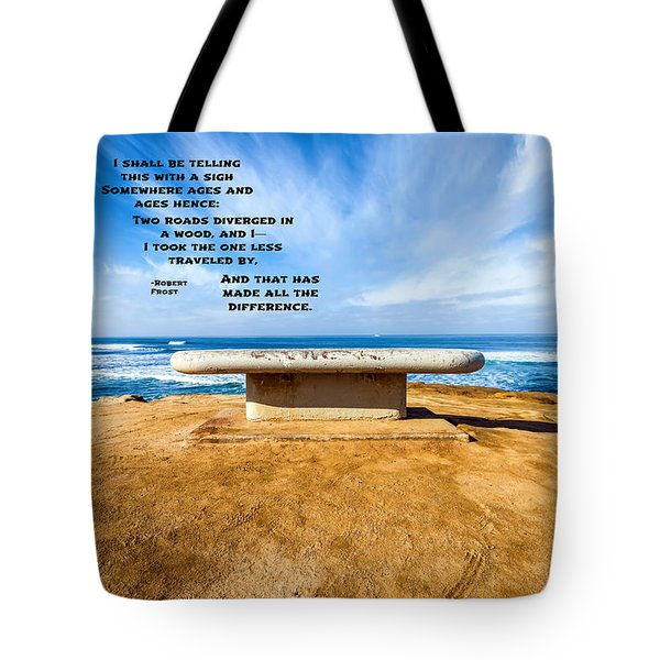 Words Above The Bench Tote Bag by Joseph S Giacalone