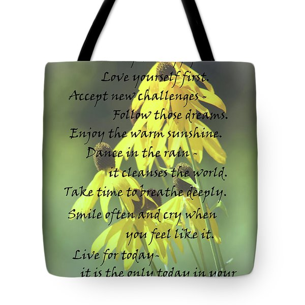 Words For My Teen Tote Bag