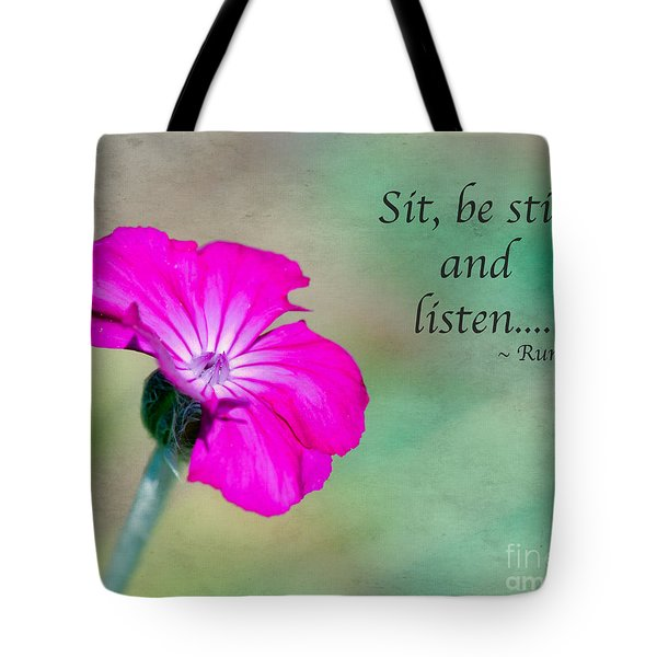 Words From Rumi Tote Bag