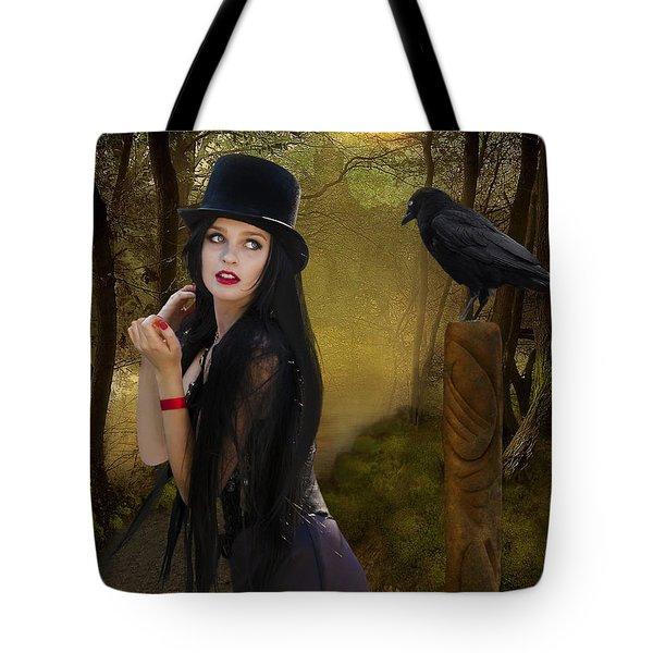 Words Of The Crow Tote Bag by Linda Lees