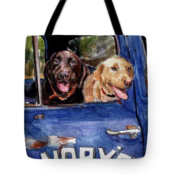 Work And Play Tote Bag by Molly Poole