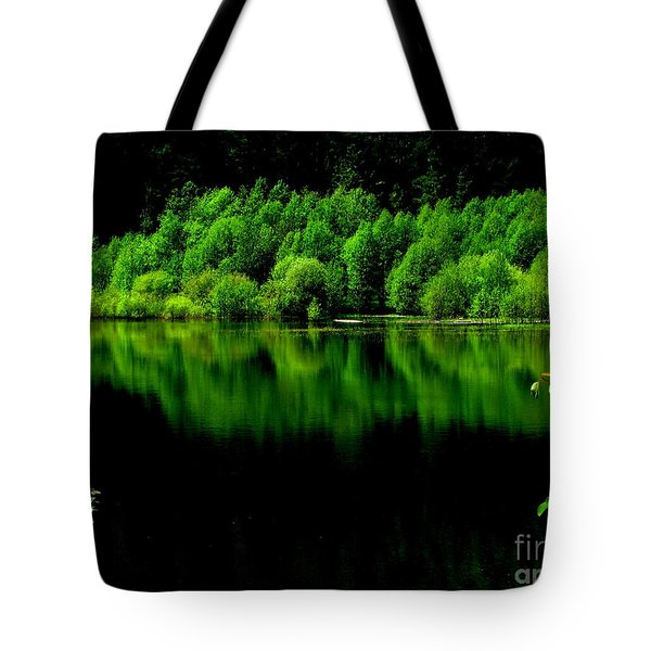 Work In Green Tote Bag by Greg Patzer